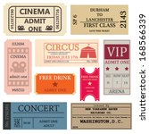 vintage tickets | Shutterstock .eps vector #168566339