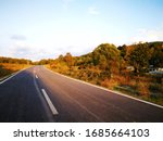Road And Nature In A  Sunny Day