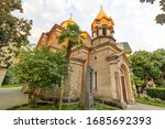 The Armenian Church of Christ the Savior, built in 1898. It is located opposite Piazza in the center of Batumi. Religious architecture of the XIX-th century.