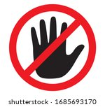 don't touch icon  vector design | Shutterstock .eps vector #1685693170