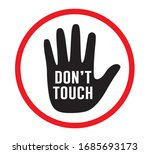 don't touch icon  vector design | Shutterstock .eps vector #1685693173