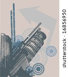 grunge urban design  vector... | Shutterstock .eps vector #16856950