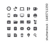 flat office business place icons | Shutterstock .eps vector #1685711350