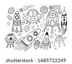 hand drawn doodles cartoon set... | Shutterstock .eps vector #1685722249