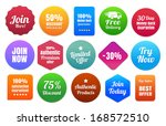 colorful ecommerce badges | Shutterstock .eps vector #168572510