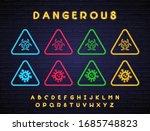 dangerous pandemic coronavirus... | Shutterstock .eps vector #1685748823