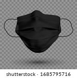 black protective face mask or... | Shutterstock .eps vector #1685795716