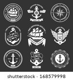 set of vintage retro nautical... | Shutterstock .eps vector #168579998