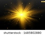 glowing light stars with... | Shutterstock .eps vector #1685802880