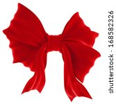 Red Velvet Gift Bow. Ribbon....