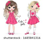 two hand drawn beautiful  cute  ...   Shutterstock .eps vector #1685841316