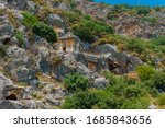 Rock Cut Tombs In Myra  Lycian...