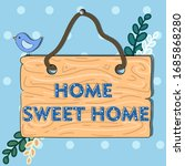 vector illustration. wooden... | Shutterstock .eps vector #1685868280