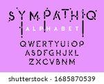 liquid alphabet  black ink...   Shutterstock .eps vector #1685870539