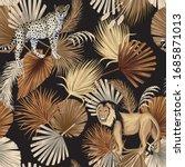 vintage tropical palm leaves ... | Shutterstock .eps vector #1685871013