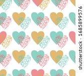 heart abstract seamless...   Shutterstock .eps vector #1685899576