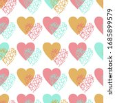 heart abstract seamless... | Shutterstock .eps vector #1685899579