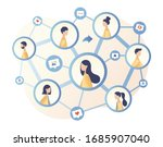 social networking. social media.... | Shutterstock .eps vector #1685907040