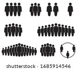 people icon set in trendy flat... | Shutterstock .eps vector #1685914546