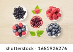 fresh mixed fruits isolated.... | Shutterstock . vector #1685926276