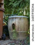 An Old Wooden Water Barrel...