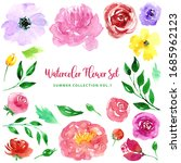 Watercolor Loose Style Flowers...