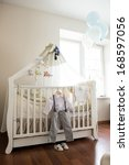 boy's christening interior | Shutterstock . vector #168597056