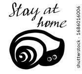 Illustration Of A Snail Hiding...