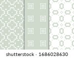set of seamless geometric... | Shutterstock .eps vector #1686028630