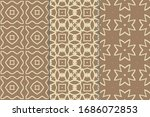 set of seamless patterns.... | Shutterstock .eps vector #1686072853