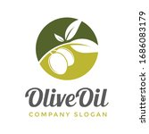olive oil vector logo template. ... | Shutterstock .eps vector #1686083179