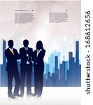 silhouette of businessmen on an ... | Shutterstock .eps vector #168612656