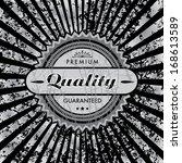 vector grungy label background. | Shutterstock .eps vector #168613589