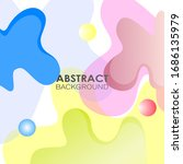 abstract colorful shape...   Shutterstock . vector #1686135979