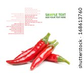 Постер, плакат: Red chili peppers on