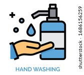 hand wash icons for web design  ...   Shutterstock .eps vector #1686156259