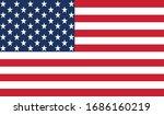 vector illustration of usa flag | Shutterstock .eps vector #1686160219