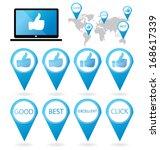 social media. hand signs vector.... | Shutterstock .eps vector #168617339
