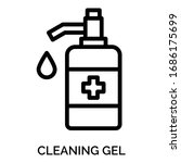 cleaning gel icons for web... | Shutterstock .eps vector #1686175699