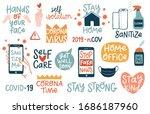 coronavirus covid 19 letterings ... | Shutterstock .eps vector #1686187960