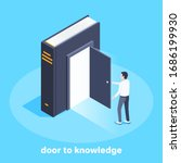 a man opened the door to a big ... | Shutterstock .eps vector #1686199930