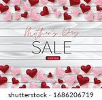 mothers day sale poster...   Shutterstock .eps vector #1686206719