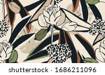 hand drawn abstract floral... | Shutterstock .eps vector #1686211096