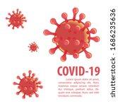 corona virus in vector design... | Shutterstock .eps vector #1686235636