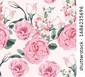 floral seamless pattern with... | Shutterstock .eps vector #1686235696