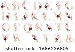 Floral Alphabet  Gold Letters...
