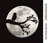 vector silhouette of branch... | Shutterstock .eps vector #1686260620