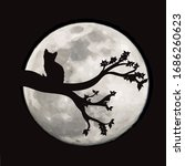 vector silhouette of branch... | Shutterstock .eps vector #1686260623