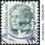 Small photo of USA - CIRCA 1995: Postage stamp printed in USA, shows Alice Hamilton, a social reformer and physician, circa 1995