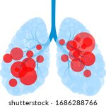 red circle in human lung shape. ...   Shutterstock .eps vector #1686288766